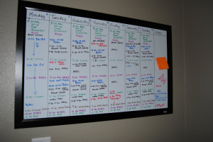 Develop a White Board Schedule