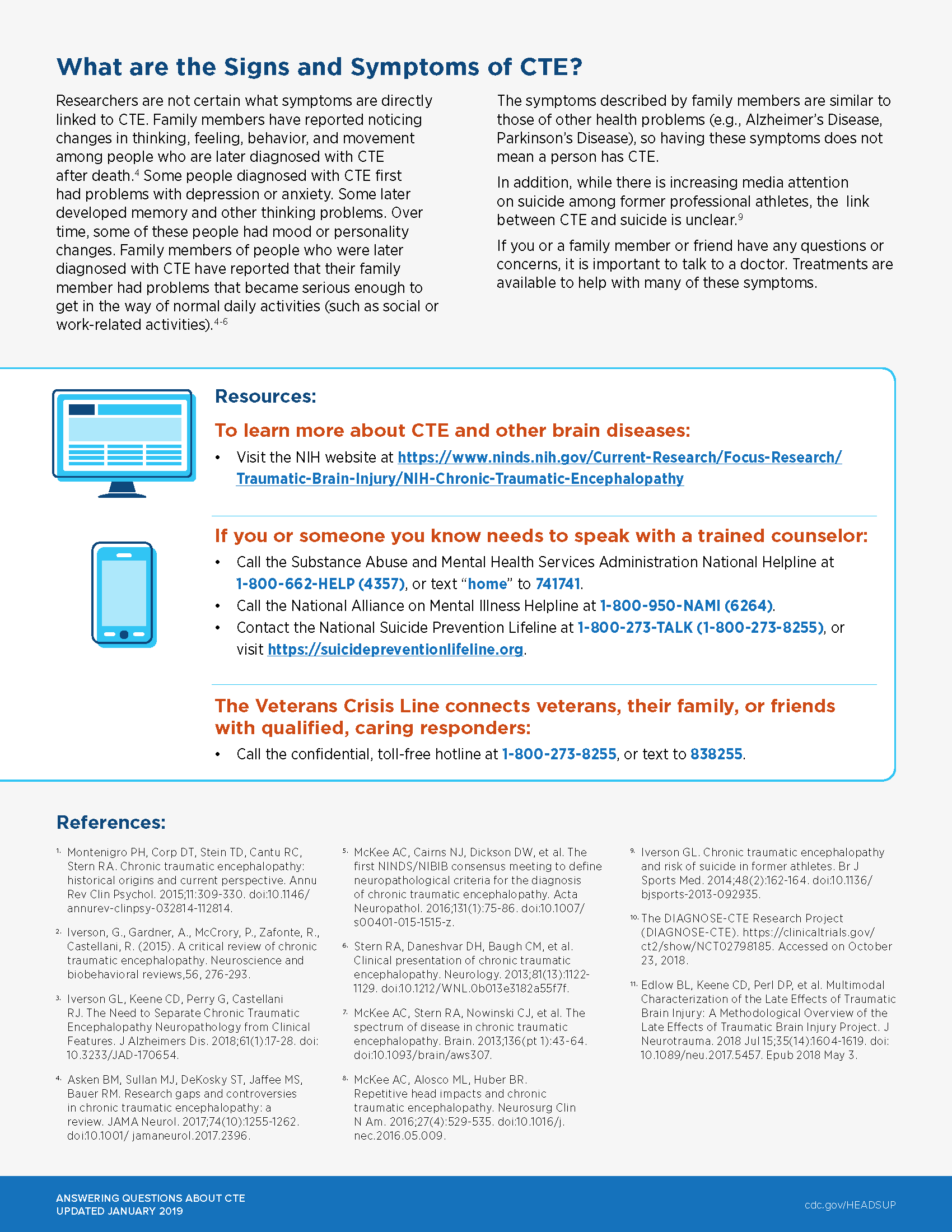 Page two of the CTE Factsheet from the CDC