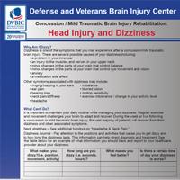 Head Injury and Dizziness DVBIC Symptom Management Sheet