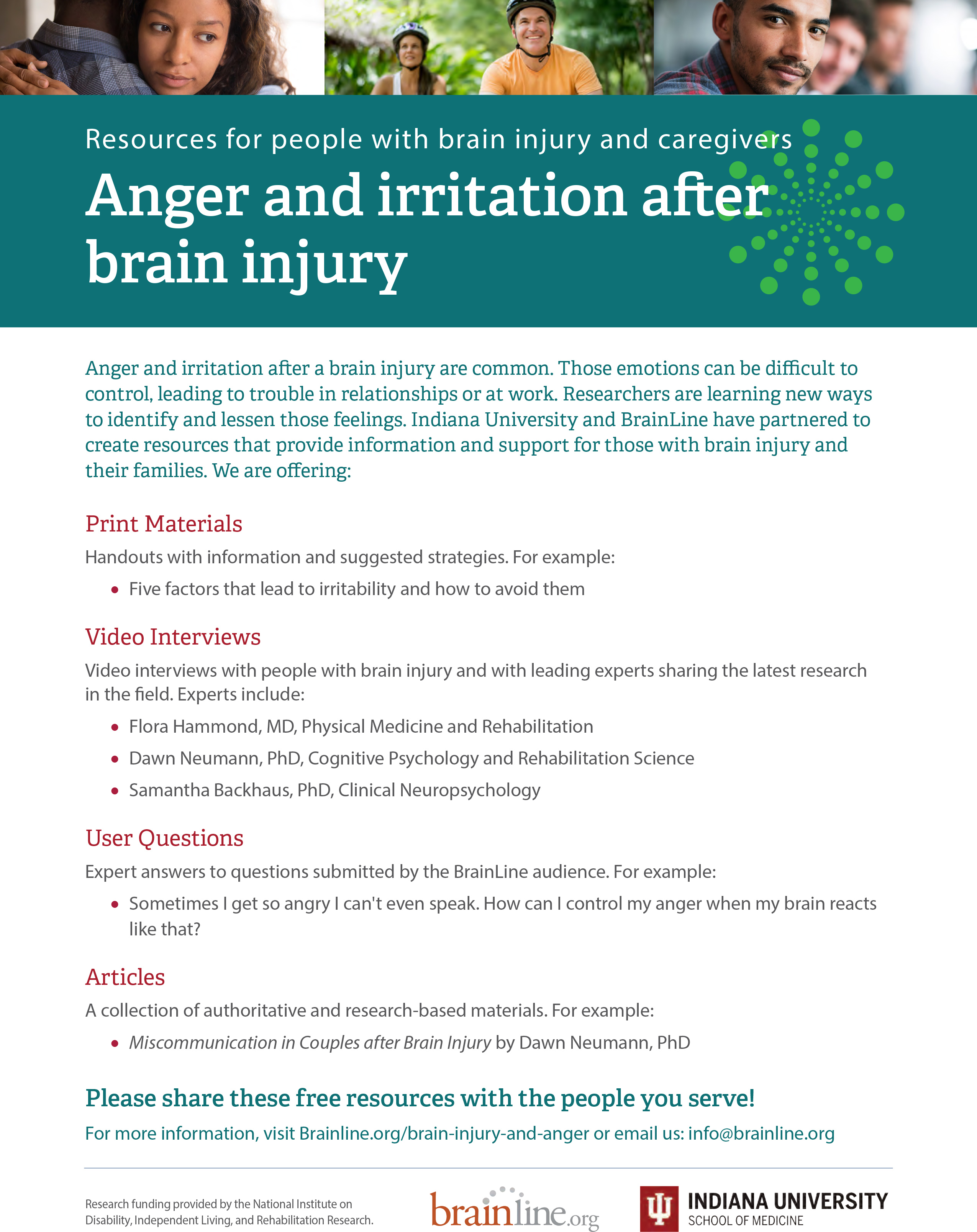 anger and irritability after brain injury outreach