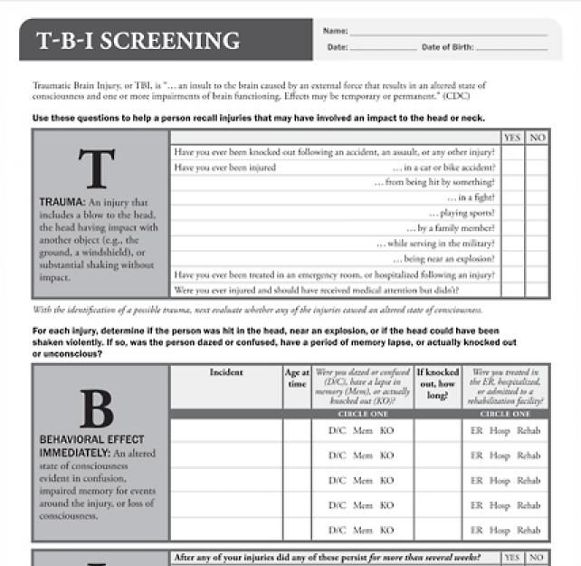 TBI Screening Tool