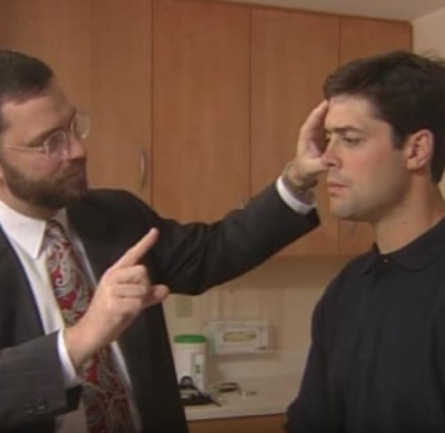 Cranial Nerve Test with Neurologist James Kelly and NHL Great Pat LaFontaine